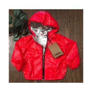 AUTHENTIC BURBERRY KIDS RED  RAIN JACKET S…